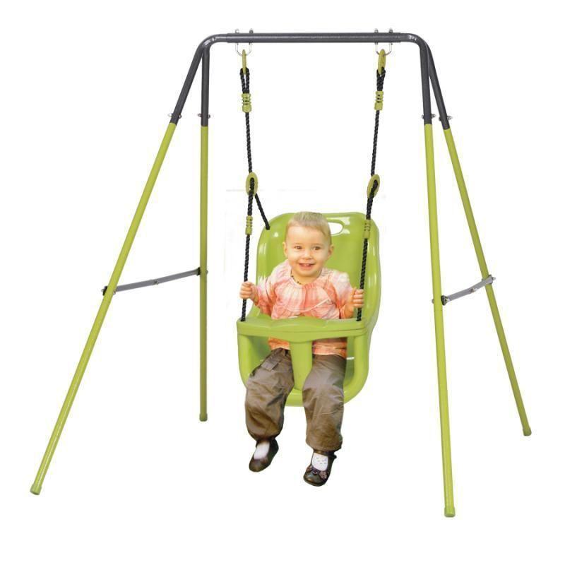 Altalena allegra baby gioco bambino in acciaio per esterno - Altalena per giardino ...