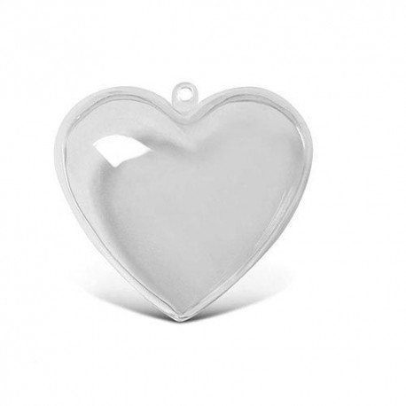 HEART IN TRANSPARENT PLASTIC CM.16 TO DECORATE DECOUPAGE
