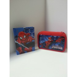 DIARIO SPIDERMAN + ASTUCCIO 3 ZIP SPIDERMAN
