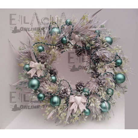 OUT DOOR CHRISTMAS GARLAND WHITE SNOW CM.50 HAND-MADE
