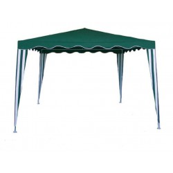 GAZEBO GREEN AND WHITE MT.3X4 POLYESTER FRAME METAL GARDEN TERRACE