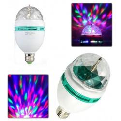 LAMPADINA LED MULTICOLORE ROTANTE E 27 3 W