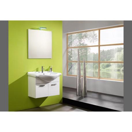 Mobile bagno completo sospeso laccato bianco base - Applique bagno specchio ...
