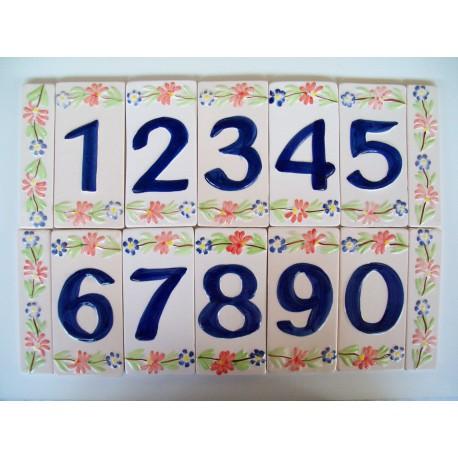 Numeri Civici In Ceramica.Numeri Civici In Ceramica