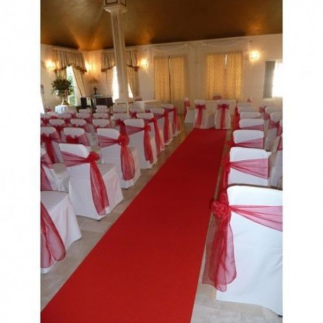 RUNNER GUIDE RED CARPET CHRISTMAS WEDDING CEREMONY EVENTS H. 1 MT.