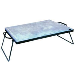 SOAPSTONE MM. 25 CM.30X40 STEEL FRAME with FOLDING LEGS H. CM.16