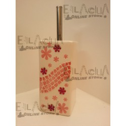 TOILET BRUSH HOLDER BATHROOM SWAROVSKI PINK