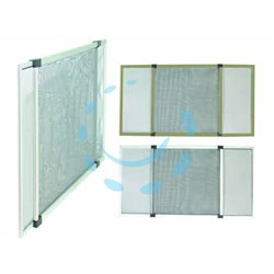 ZANZARIERA IN FIBRA CON TELAIO COMPONIBILE IN ALLUMINIOcolore bianco RAL9010 rete grigia cm.75x50h.