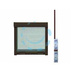 ZANZARIERA KIT A MOLLA FRIZIONATA COLORE MARRONEcm.160x250h. x porta finestra con avvolg. laterale