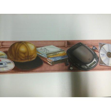 BORDO GRECA CARTA DA PARATI H. 13,5 Cm X 10 M GRECA CORNICE 1 PZ. ART. 68937