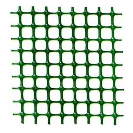 RETE PLASTICA QUADRA MM.10X10 ROTOLO DA MT.50X1H VERDE GIARDINO BALCONE