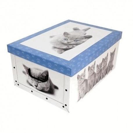 BOX CARTON LAUNDRY BAG SATCHEL CM.50X40X25H PUPPIES CATS VARIOUS COLOURS