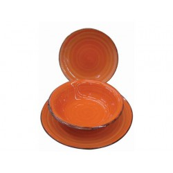 SERVICE DISHES CERAMIC No. 18 PIECES ORANGE