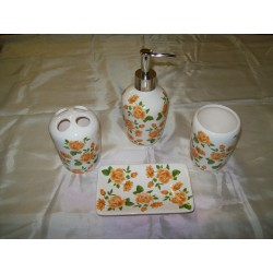 BATHROOM SET 4 PIECE CERAMIC