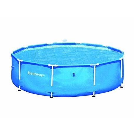 """TELO TERMICO DI COPERTURA PER PISCINE TONDE """"STEEL FRAME"""" ø cm.350 per piscine ø cm.366 (art.58242)"""