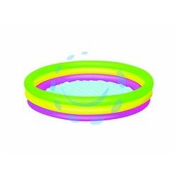 """PISCINA """"SUMMER"""" 3 ANELLI COLOR GRANDE +2 ANNI ø cm.152x30h. lt.62 kg.1,880 (art.51103)"""