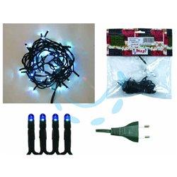 LUCCIOLINE LINEARI PER INTERNO LUCI BLU 35 luci lamp.6,5V mt.3,43