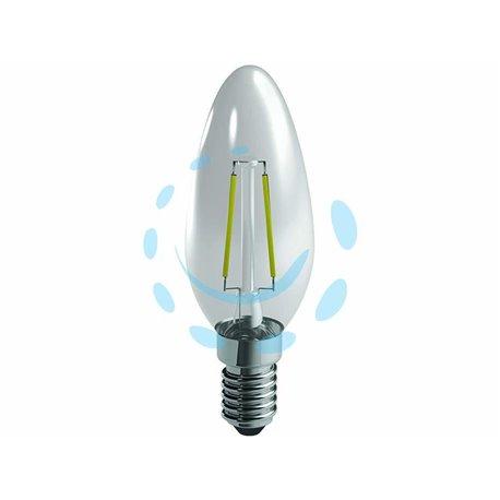 LAMPADA A FILAMENTO LED OLIVA CHIARA E14 4w (40) E14 2700K 450 LUMEN 320°