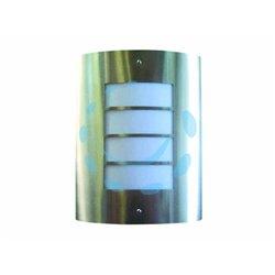 LAMPADA IN ACCIAIO INOX A PARETE 40w IP44 ø cm.22,3x28h.