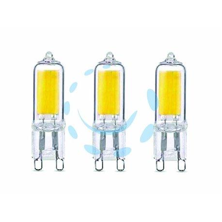 LAMPADA LED BISPINA G9 SET 3 PEZZI G9 2,0W (25) 2700°K 200 LUMEN 240°
