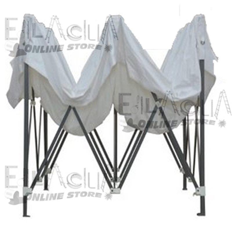Gazebo Bianco Richiudibile A Fisarmonica 3x3 Con Sacca Per Trasporto