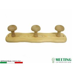 HANGER 3 PLACES IN WOOD CLEAR CM.35X9H 00651160