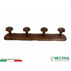 HANGER 4 PLACES WOOD DARK WALNUT CM.47X9H 00651163