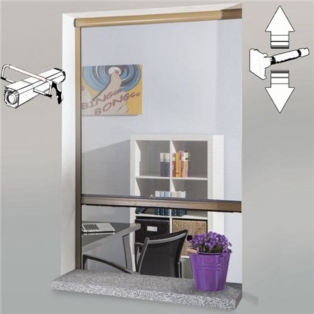 MOSQUITO NET ROLLER CLUTCH ALUMINUM REDUCIBLE TO THE WINDOWS IN THE KIT