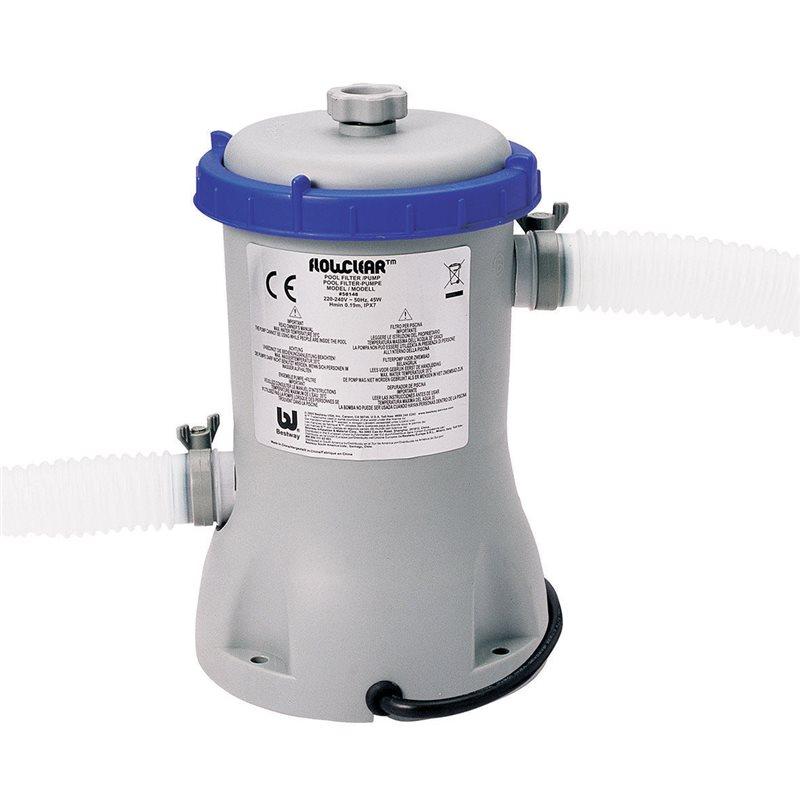 Pompa per piscina esterna bestway 2006 lt h filtro for Pompa x piscina esterna