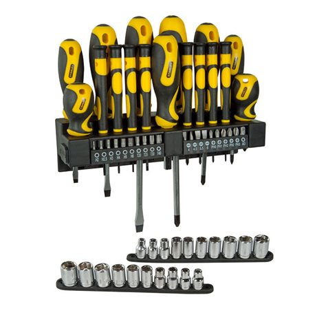 SET, SCREWDRIVER INSERTS AND BUSHINGS 57 PIECES STANLEY STHTO-62143