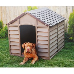 KENNEL FOR DOG SIZE LARGE RESIN cm.78x84,5x80 BROWN
