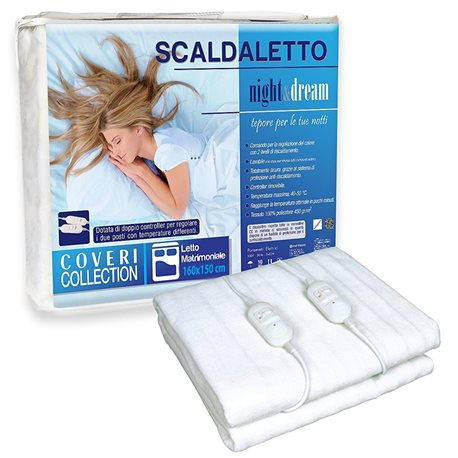 ELECTRIC blanket THERMAL BLANKET electric UNDERBLANKET SCALDASONNO DOUBLE COVERI 160x150