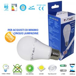 LED light BULB, V-Tac E27 15W BULB LIGHT-WARM - NATURAL - COOL
