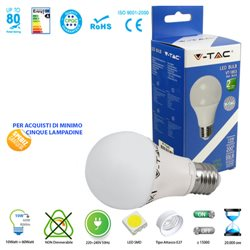 LED light BULB, V-Tac E27 10W LAMP BALL LIGHT-WARM - NATURAL - COOL