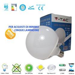 LAMPADA LED V-Tac E27 13W GLOBO LUCE CALDA-NATURALE-FREDDA