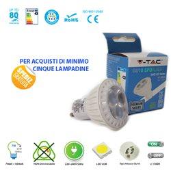 LAMPADINA LED V-Tac VT-2828 GU10 7W LAMPADA SPOT FARETTO