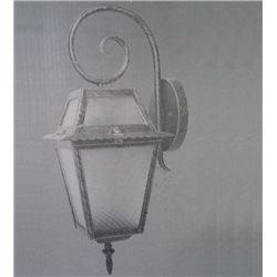 LANTERN LAMP WITH ARM, GRAY CAST IRON MODEL MILAN 60W EXTERNAL