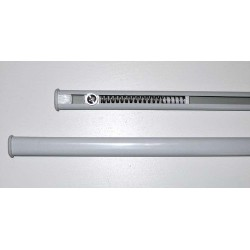 WAND ROD ALUMINIUM WHITE EXTENDABLE PRESSURE CURTAIN IN GLASS WINDOW