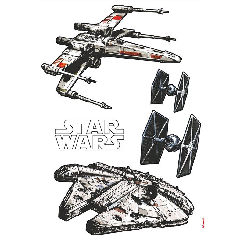 Adesivo decosticker originale star wars guerre stellari for Le navicelle spaziali