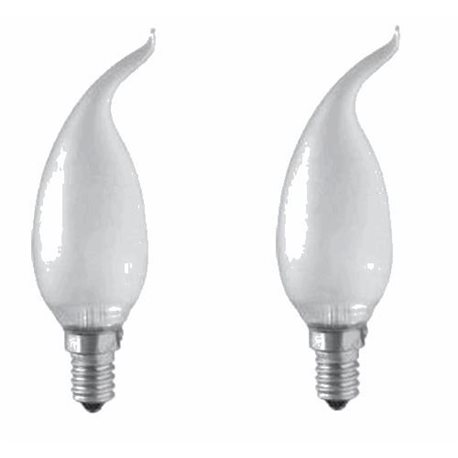 N.2 LAMPADINE ALOGENE OLIVA COLPO DI VENTO E 14 28W OPALI
