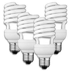 LAMPADINA BASSO CONSUMO ENERGETICO E27 SPIRALE 15W LUCE CALDA 4 PEZZI