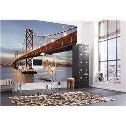 POSTER MURAL CM.366X254H BAY BRIDGE SAN FRANCISCO - OAKLAND