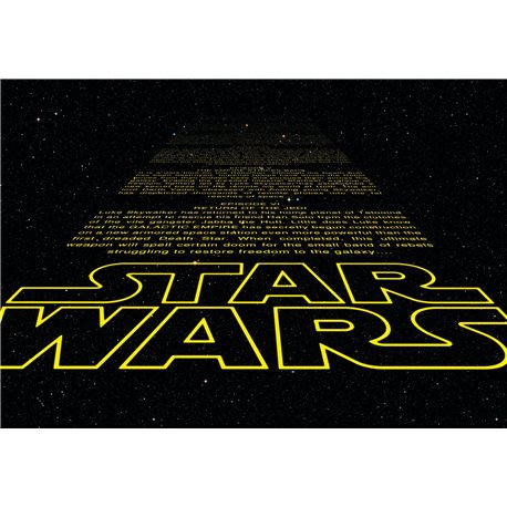 Poster fotomurale originale star wars guerre stellari for Carta da parati inglese vendita on line