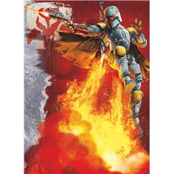 POSTER FOTOMURALE THE ORIGINAL STAR WARS WALLPAPER STAR WARS BOBA FETT