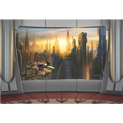 POSTER FOTOMURALE THE ORIGINAL STAR WARS WALLPAPER STAR WARS CORUSCANT