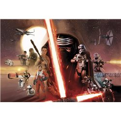 POSTER FOTOMURALE THE ORIGINAL STAR WARS WALLPAPER STAR WARS EPISODE VII