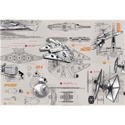 POSTER FOTOMURALE THE ORIGINAL STAR WARS WALLPAPER STAR WARS PROJECTS