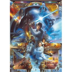 POSTER FOTOMURALE THE ORIGINAL STAR WARS WALLPAPER STAR WARS SKYWALKER