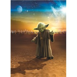POSTER FOTOMURALE THE ORIGINAL STAR WARS WALLPAPER STAR WARS YODA