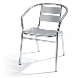 CHAIR, ALUMINIUM STACKABLE BAR HOME GARDEN OUTDOOR INDOOR